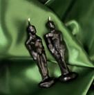 Coppia Statue Piccole Nere